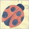 Lady Bug with Gingham II Canvas Reproduction