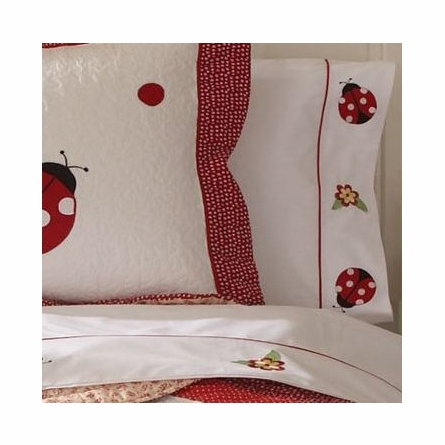 Lady Bug Yard Quilt with Pillow Sham