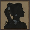 Lady Silhouette 1 Framed Wall Art