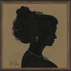 Lady Silhouette 2 Framed Wall Art