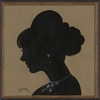 Lady Silhouette 4 Framed Wall Art