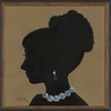Lady Silhouette 9 Framed Wall Art