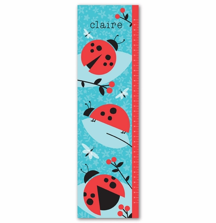 Ladybug Love Personalized Growth Chart
