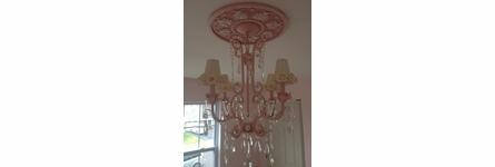 Ladybugs Round Chandelier Medallion