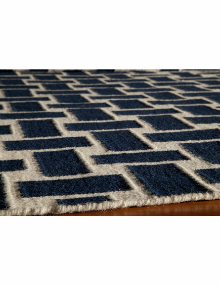 Laguna Basket Weave Rug in Navy