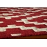 Laguna Diamonds Rug in Red