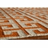 Laguna Greek Key Rug in Orange