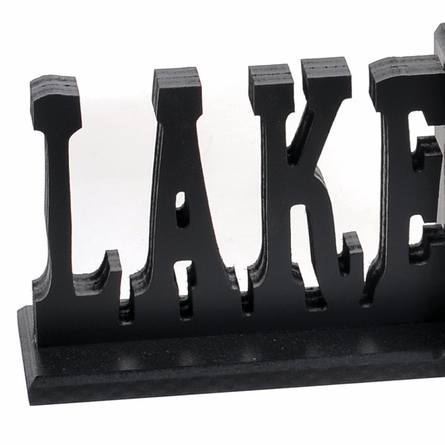 Lake Cabin Letter Bookends