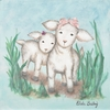 Lamb Sisters Canvas Reproduction