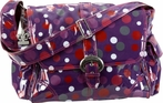 Laminated Buckle Diaper Bag in Bouncing Balls Berry