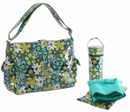 Laminated Buckle Diaper Bag in Far Out Floral