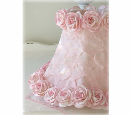 Lamp Shade with Pink Petals & Roses