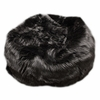 Large Beanbag in Black Fuzzy Fur