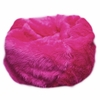 Large Beanbag in Fuchsia Fuzzy Fur