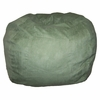 Large Beanbag in Green Microsuede