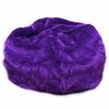 Large Beanbag in Purple Fuzzy Fur