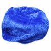 Large Beanbag in Royal Blue Fuzzy Fur