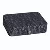 Large Black Lace and Metallics Jewelry Box