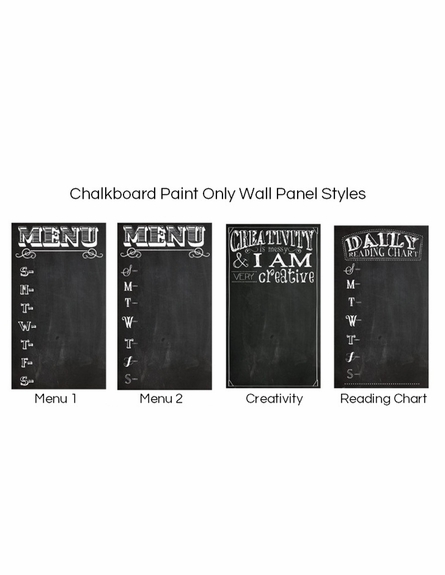 Large Chalkboard Style Wall Panel