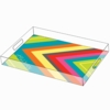 Large Chevron Personalized Acrylic Tray