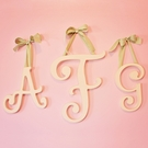 Large Cursive Wooden Hanging Letters - Cottage White
