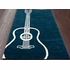 Large Guitar Rug in Teal