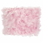 Large Pink Feather Drum Shade