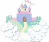 Large Princess Castle Paint by Number Wall Mural
