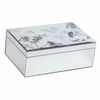 Large Queen Anne's Lace Mirrored Jewelry Box