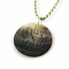 Large Round Shell Pendant