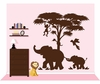 Large Silhouette Safari 2 Paint by Number Wall Mural