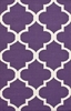 Large Trellis Rug in Purple