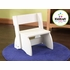 Large White Flip Stool