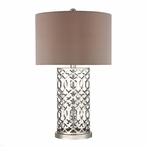 Laser Cut Trellis Metal Table Lamp