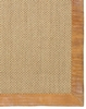 Latte Pampas Leather Border Rug