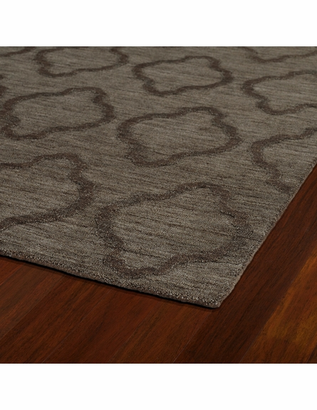 Lattice Imprints Modern Rug in Chocolate