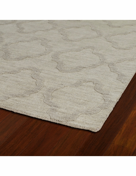 Lattice Imprints Modern Rug in Oatmeal