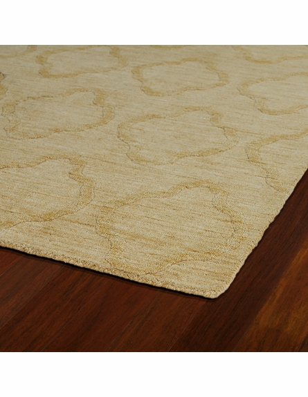 Lattice Imprints Modern Rug in Yellow