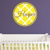 Lattice Personalized Fabric Wall Decal