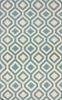 Lattice Rug in Baby Blue