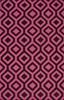 Lattice Rug in Fuchsia