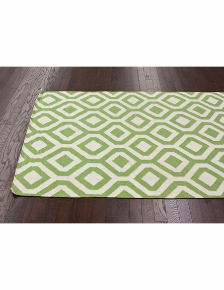 Lattice Rug in Green
