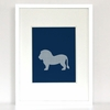Latticed Lion Art Print