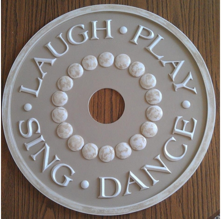 Laugh Play Sing Dance Round Chandelier Medallion