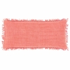Laundered Linen Coral Rectangular Pillow