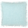 Laundered Linen Sky Square Pillow
