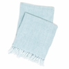 Laundered Linen Sky Throw Blanket