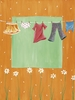 Laundry In Orange Canvas Reproduction