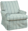 Lauren Large Slipcovered Swivel Glider Chair