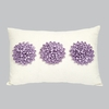Lavender 3 Dahlias Pillow